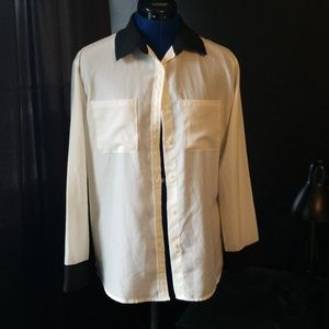 Off-White Button Down By Mossimo Supply Co.
